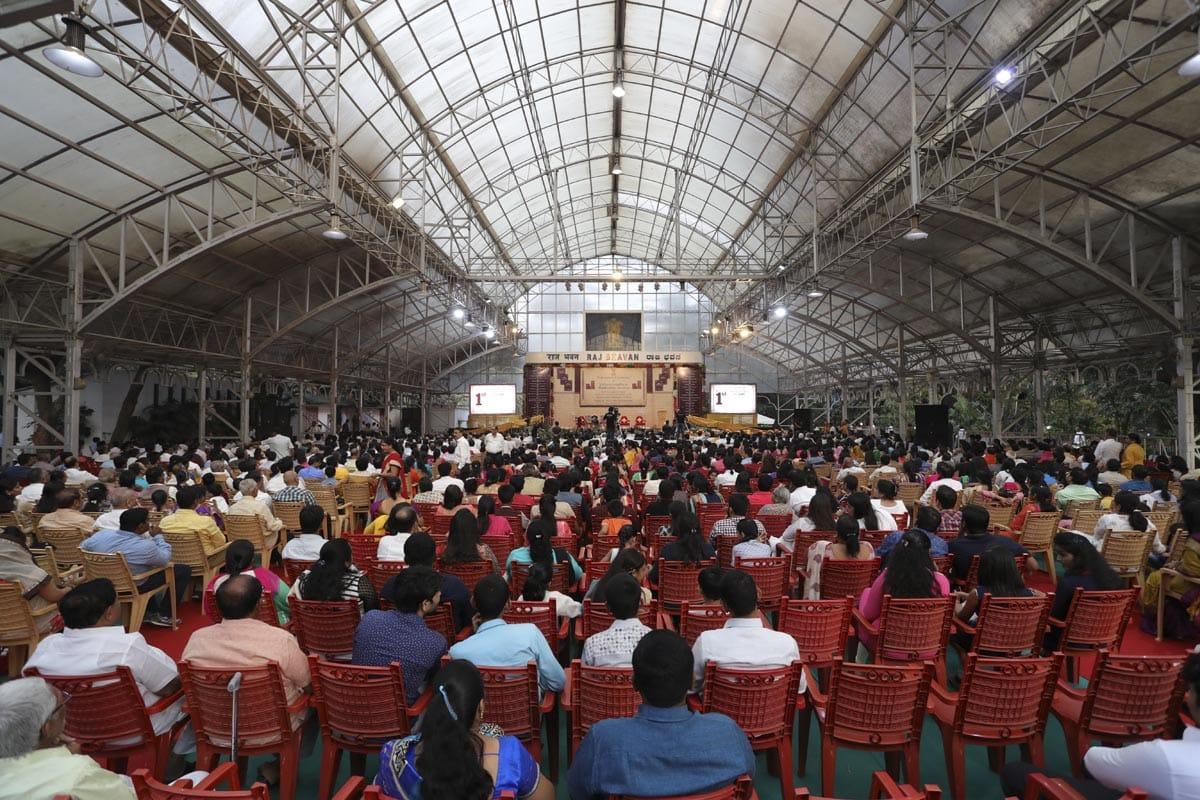 Felicitation Ceremony of Mahamahopadhyay Bhadreshdas Swamiji at Raj Bhavan