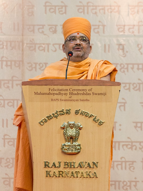 Bhadresh Swami addresses the assembly